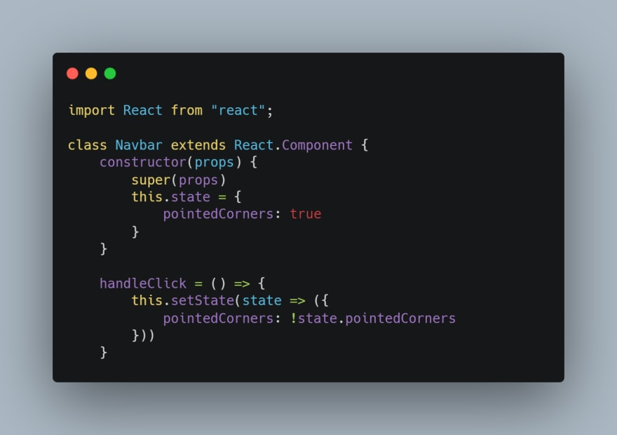 adding handleClick function