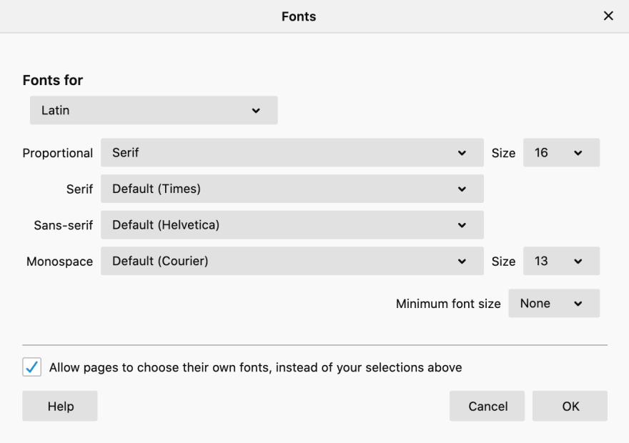 Firefox advanced font settings dialog
