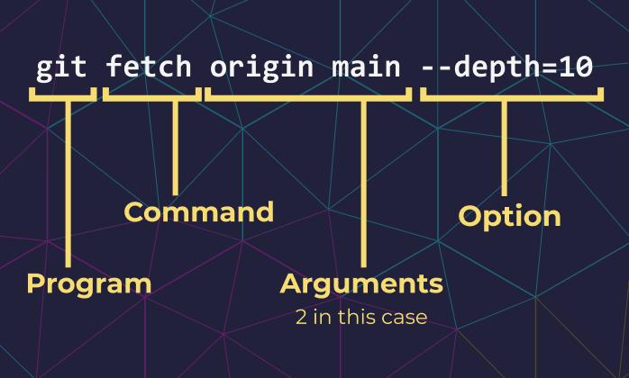Example: git fetch origin main --depth=10