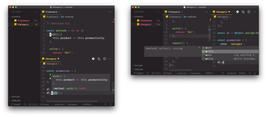VS Code Hinting, Traversal, Peeking in Vanilla JS Projects