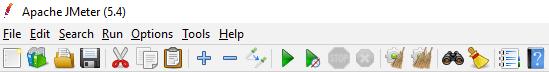Icon row in JMeter 5.4