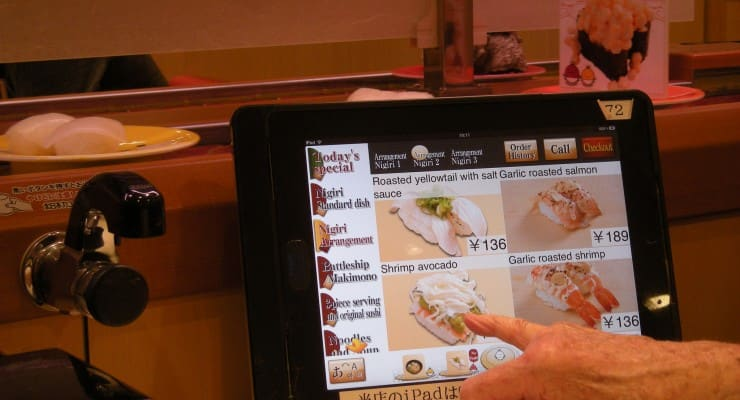 iPad Oredering Menu