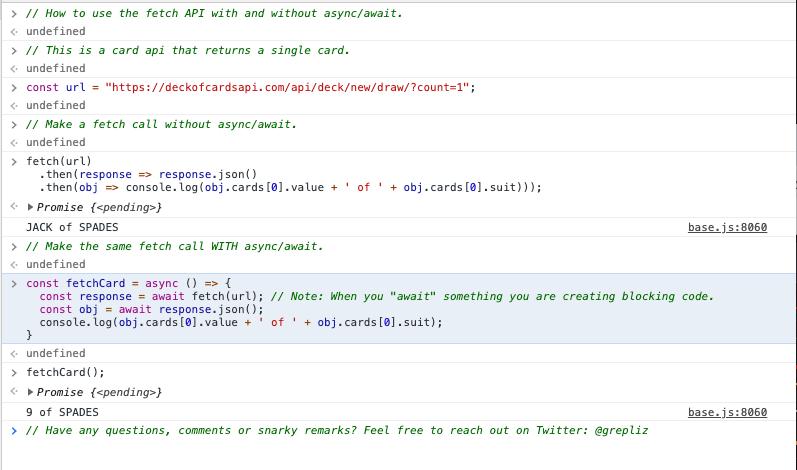 Fetch API example