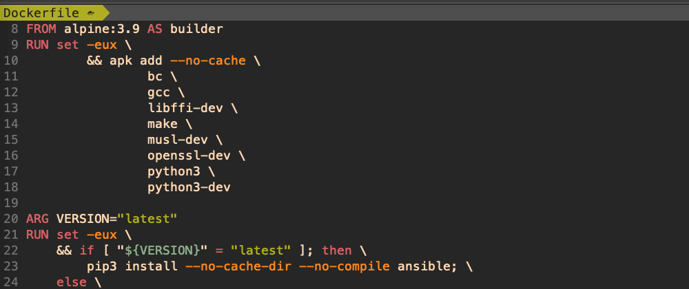 Cover image for Dockerfile: ansible, awscli, packer, terraform