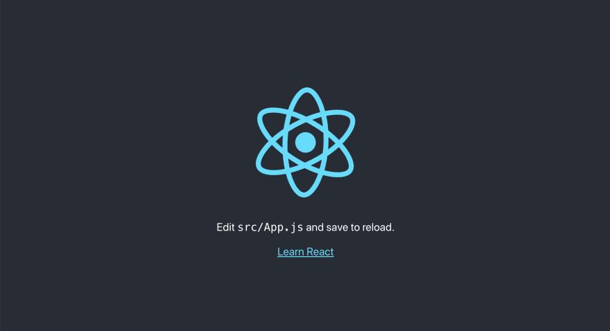 Default create react app screen