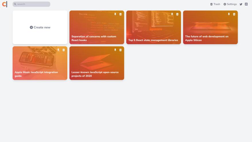 CodeWrite dashboard