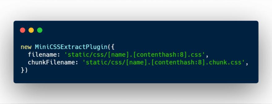 Mini CSS extract plugin webpack configuration