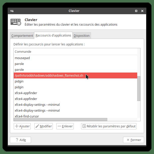 shortcut added