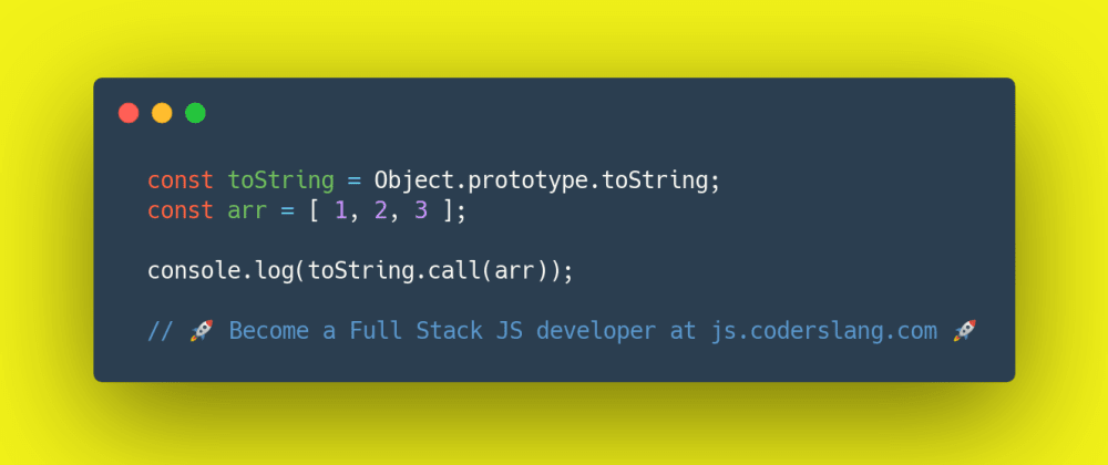 Cover image for JavaScript Interview Question #22: How `toString` works in JavaScript?