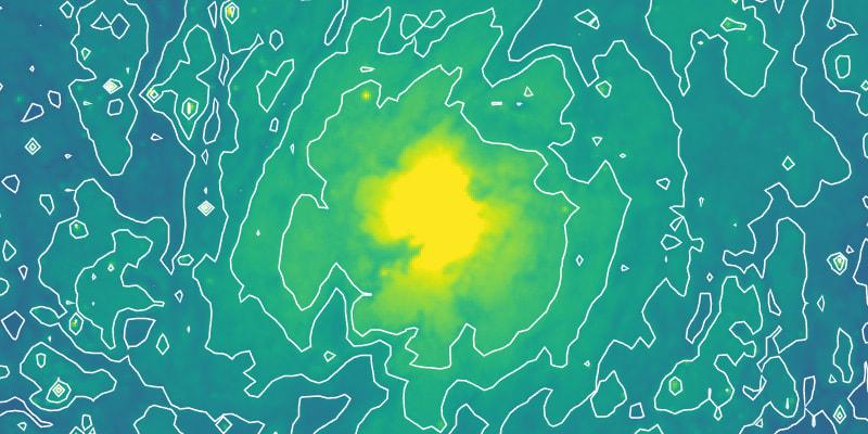 M51 contours