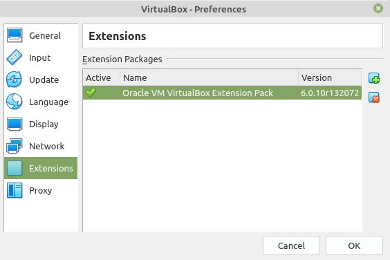 VirtualBox Ext Pack