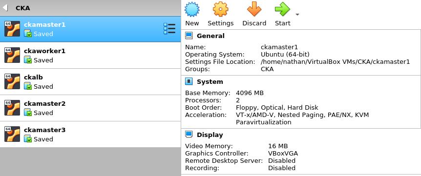 CKA Labs on VirtualBox using Vagrant