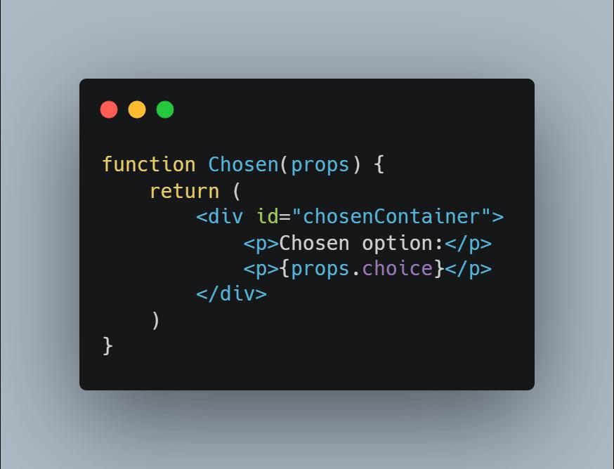 add props.choice