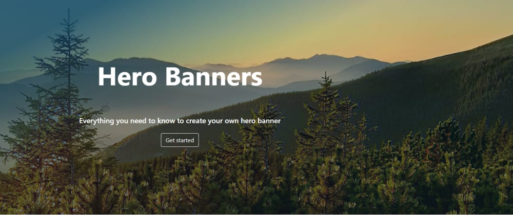 Cover image for How to Make an HTML Hero Banner