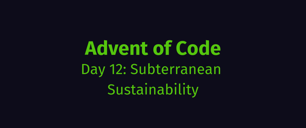 Cover image for AoC Day 12: Subterranean Sustainability