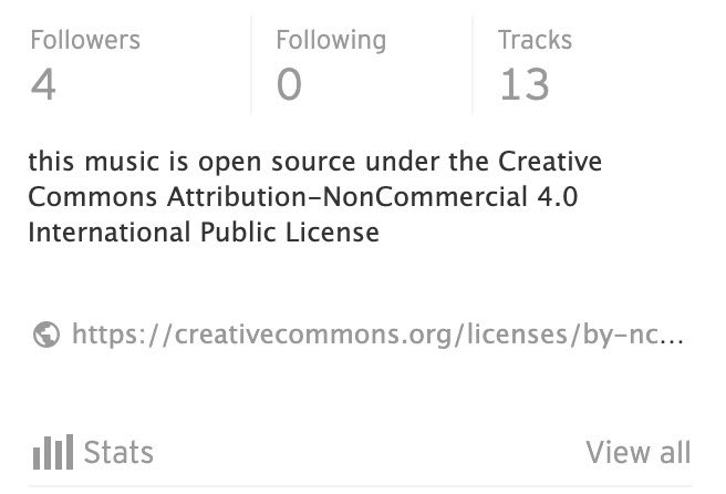 open source license on soundcloud