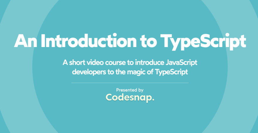 Introduction to TypeScript Course Cover Photo