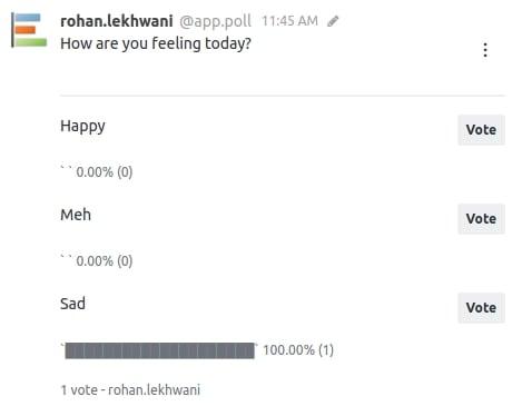 The sad state of the Poll makes me Sad : (