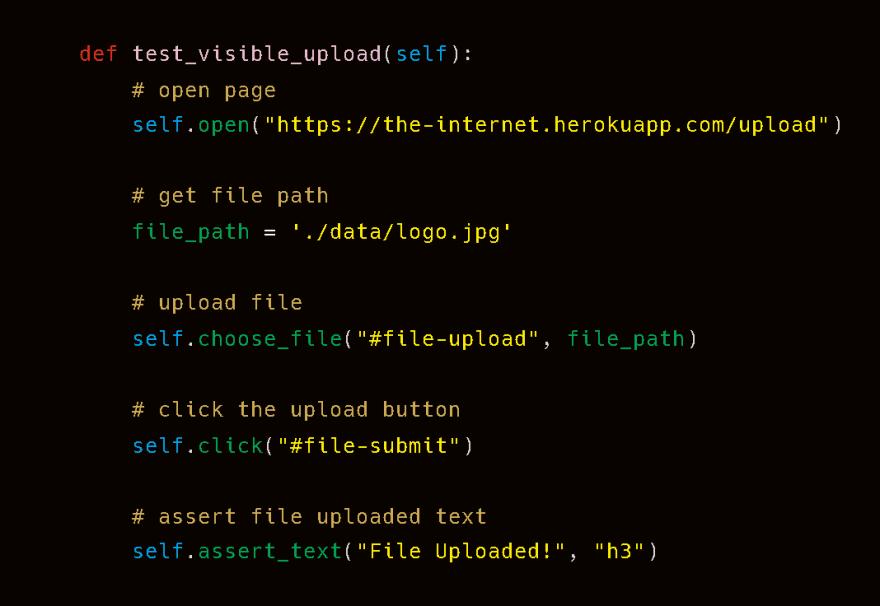visible code