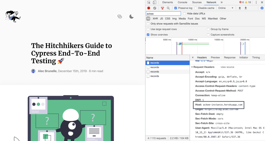 using the brave browser dev tools