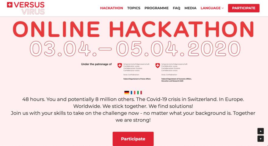#VersusVirus Hackathon