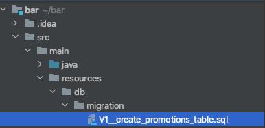 Create a SQL script example YugabyteDB Flyway Maven example