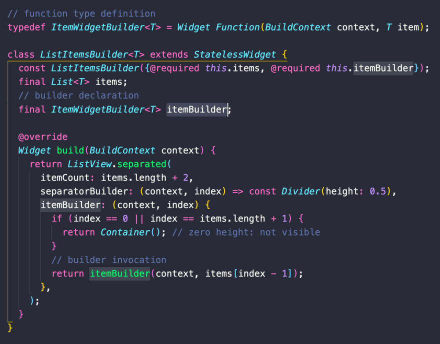 Need to declare a function type with generics? Use a typedef