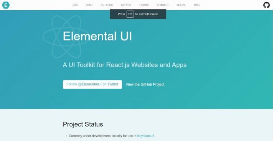 Elemental UI - React UI Kit for Web application