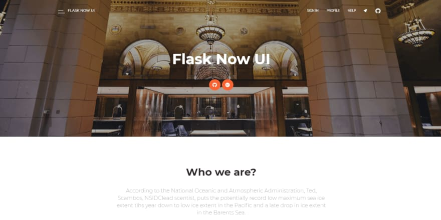 Flask Now UI Kit - Open-Source Web App.