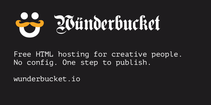 Wunderbucket: Static hosting for creative people