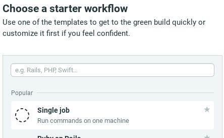 Choose workflow pane