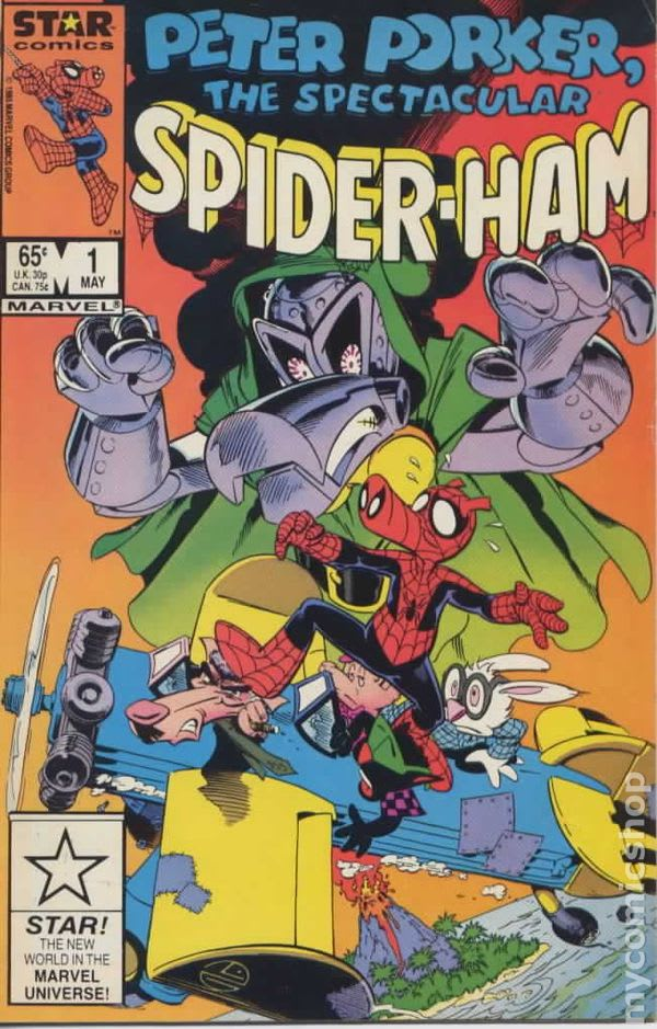Peter Porker the Spectacular Spider-Ham (1985) comic books<br> Peter Porker the Spectacular Spider-Ham