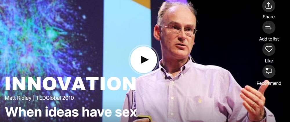 Cover image for Innovation = Ideas having Sex