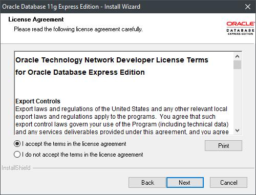 License Window