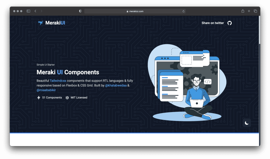 Screenshot of Meraki UI website