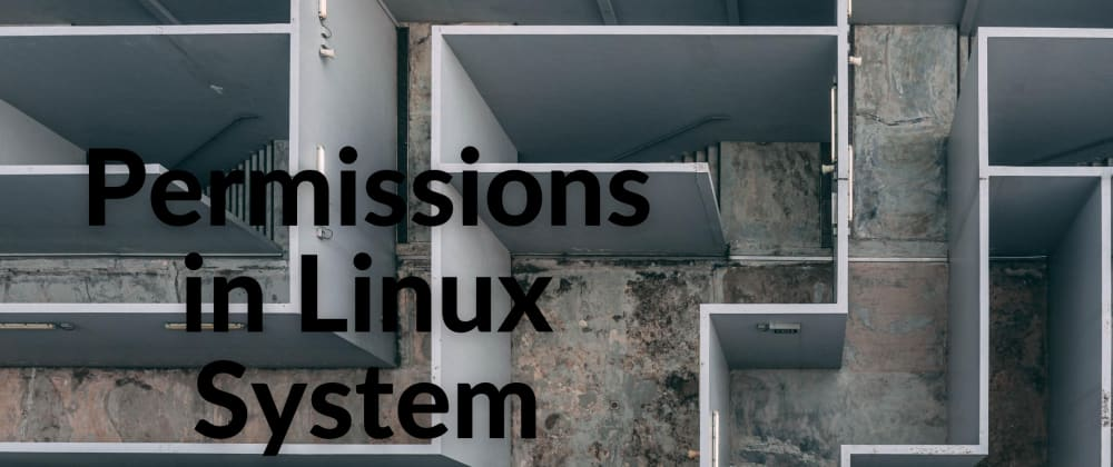 Cover image for Permissions in Linux System