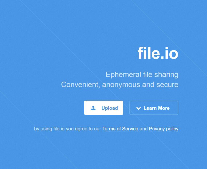 file.io homepage