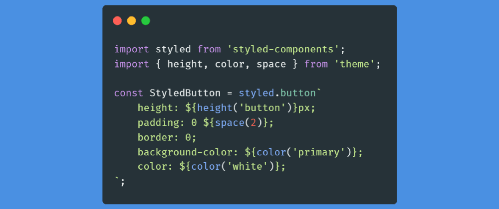 Cover image for Organize styled-components theme in React with Functional Programming