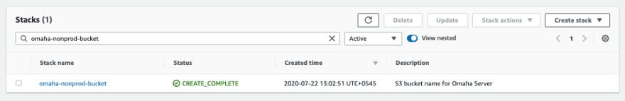 Fig: S3 Bucket CloudFormation Stack