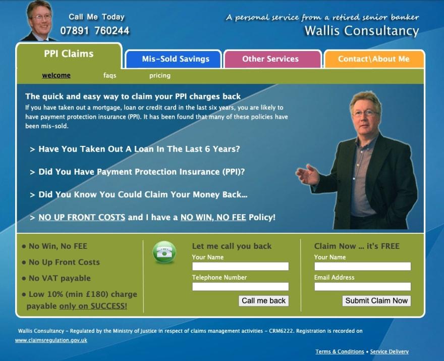 Original Wallis Consultancy website