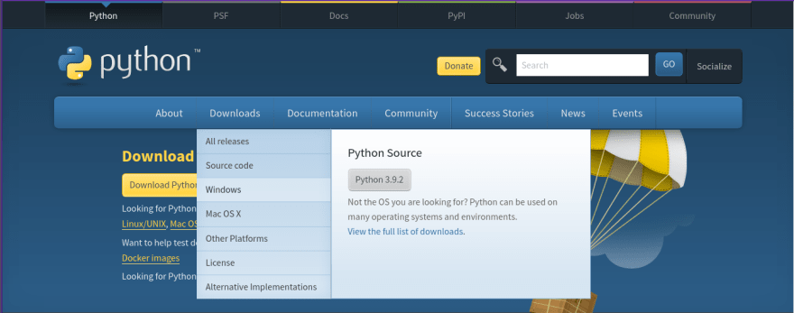 Python Installation on windows