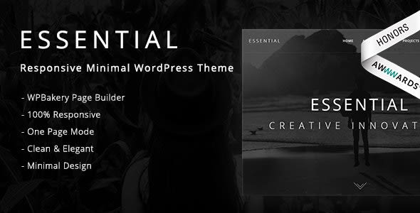 Essential-responsive minimal one page WordPress theme