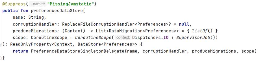 source code of preferencesDataStore()