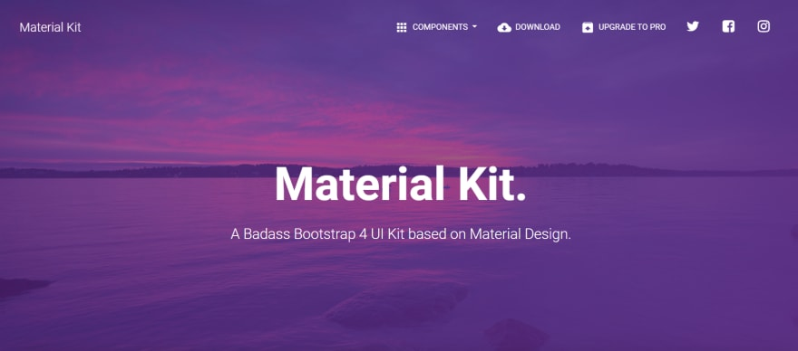 Material UI Kit - Open-source Bootstrap template.