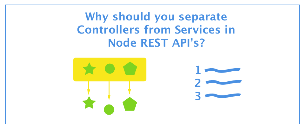 Cover image for Why should you separate Controllers from Services in Node REST API's?