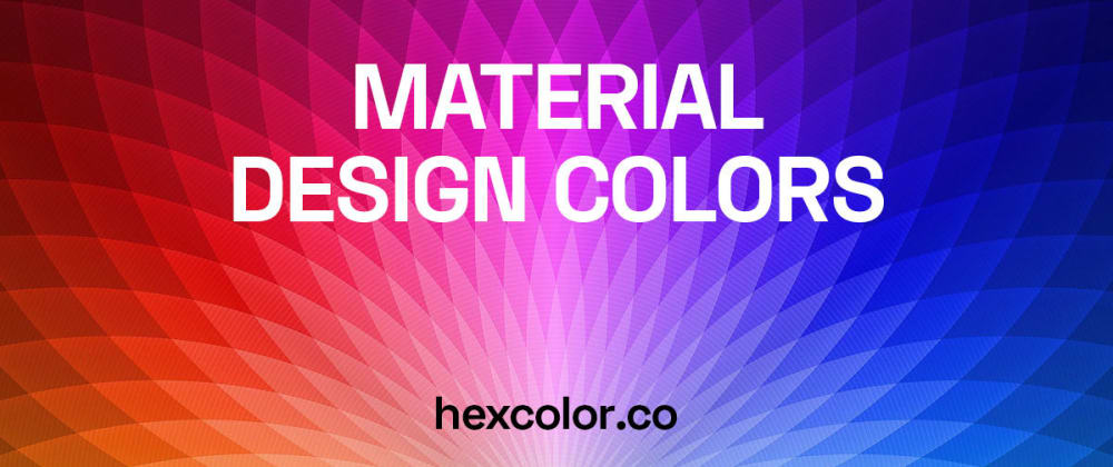 Cover image for Material Design Colors