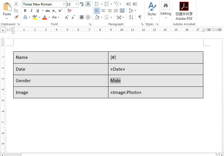 Word Template