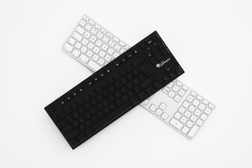 """""""Keyboards Black & White"""""""