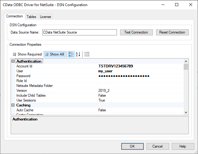 Configuring the ODBC Connection to NetSuite