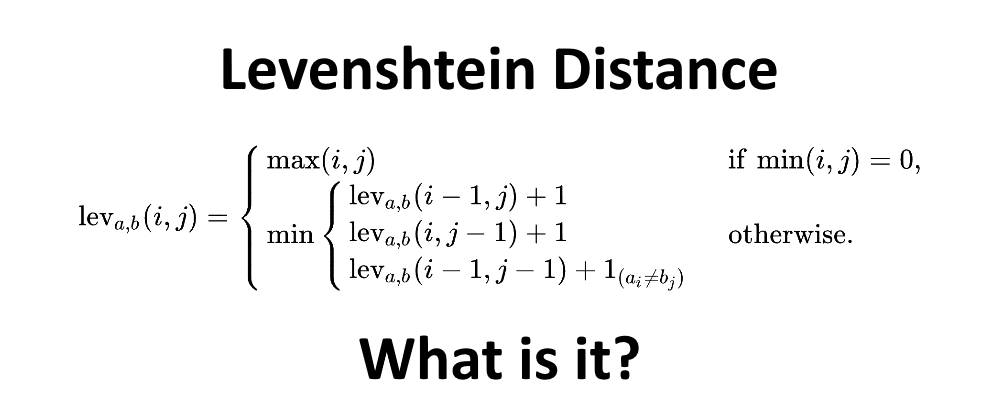 Cover image for Levenshtein Distance (Part 1: What is it?)
